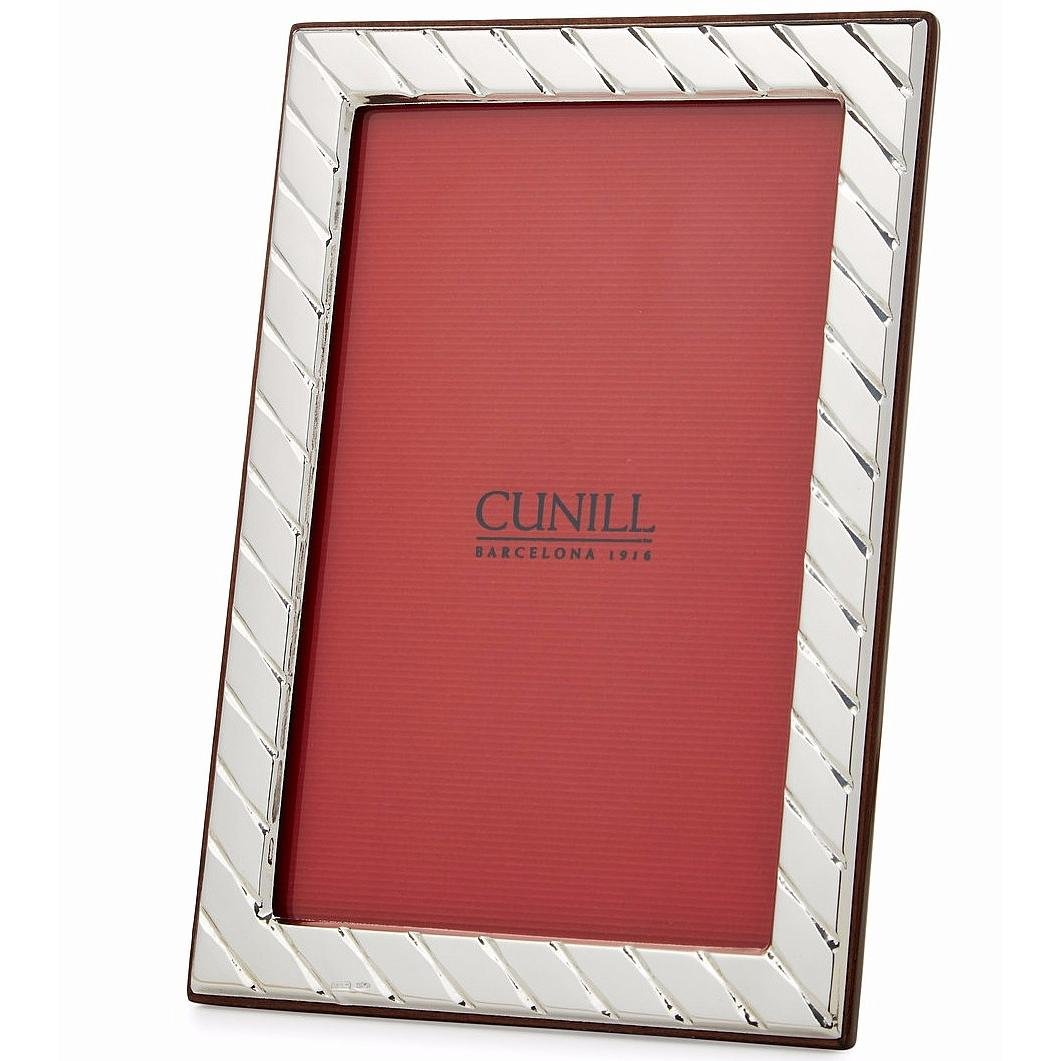 Cunill 84646 Stripes 4x6 Frame Sterling Silver Picture Frame