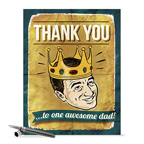 J0234 Jumbo Funny Father's Day Card: Awesome Dad With Envelope (Extra Large Version: 8.5'' x 11'')