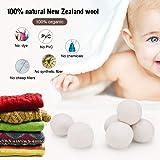 Dryer Balls Organic Eco Wool Dryer Balls 6pack 100% Natural Fabric Softener Shorten Laundry Drying Time and Reduce Wrinkles XXL White