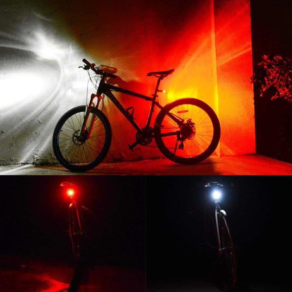 DUBUT21 Super Bright Bicycle Light Set USB Rechargeable Bike Headlight Free Tail Light Waterproof LED Bike Light Easy to Install Cycling Safety Commuter Flashlight Best Mountain Road City Bicycle by DUBUT21 (Image #6)