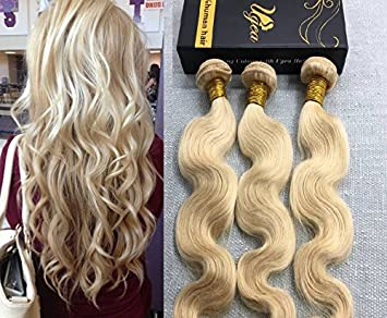 Echthaar extensions lockig blond