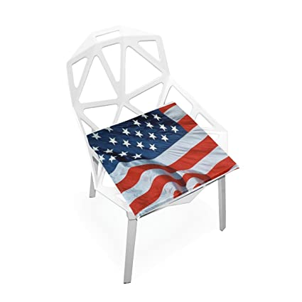 Seat Cushion Chair Cushions Covers Set American Flag Decorative Indoor  Outdoor Velvet Double Printing Design Soft
