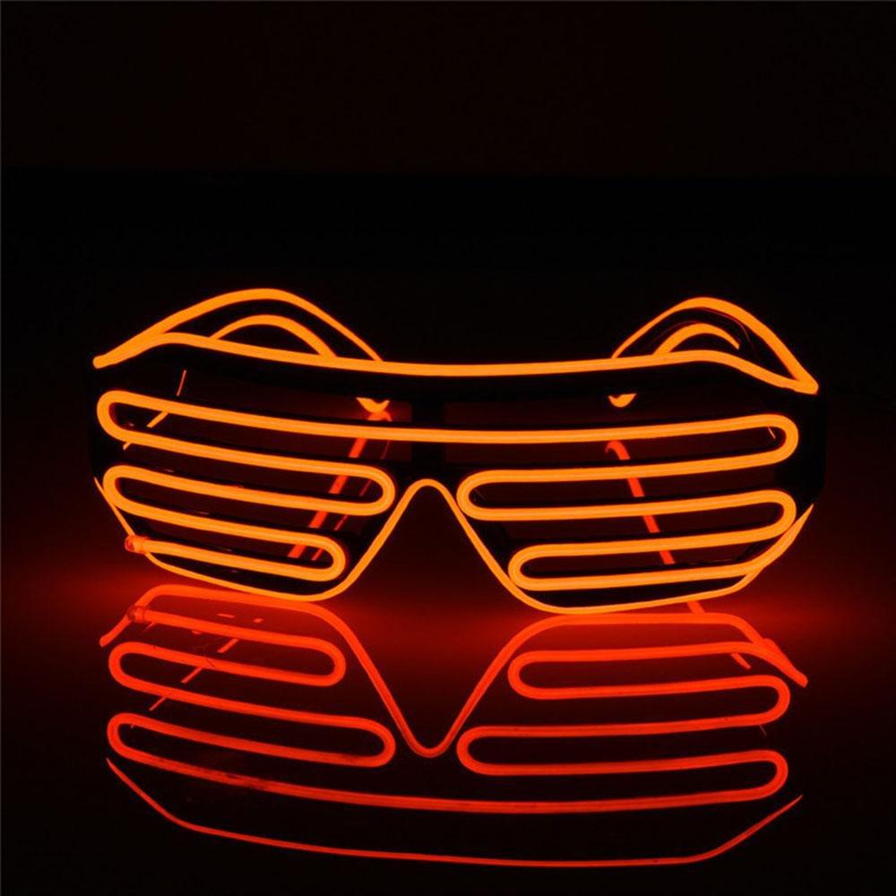 Gafas de Sol Brillantes AOLVO Gafas de Sol con luz LED Gafas de Sol con luz de ne/ón con 4 Modos para Halloween Fiestas de cumplea/ños Navidad