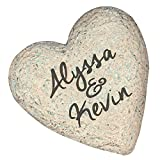 Cheap GiftsForYouNow Small 5.5″ Engraved Couples Heart Garden Stone, Resin, Waterproof, Indoor/Outdoor