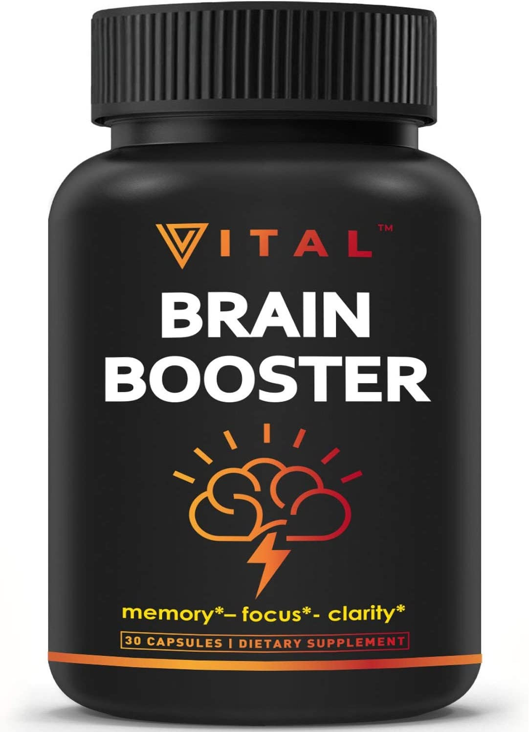 Brain Supplement Nootropics Booster – Enhance Focus, Boost Concentration, Improve Memory Clarity For Men Women, Ginkgo Biloba, DMAE, Mind Enhancement, IQ Neuro Energy, Vitamin B12, Bacopa Monnieri