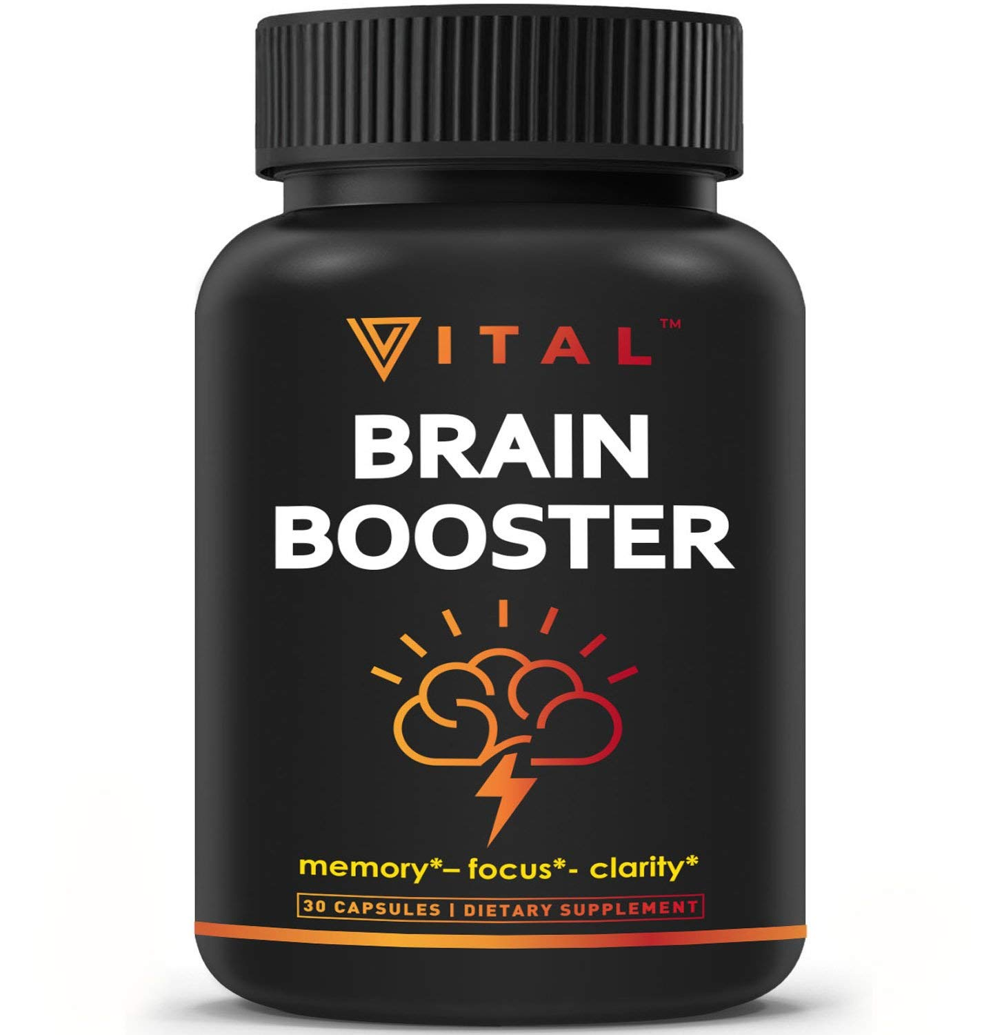 Brain Supplement Nootropics Booster - Enhance Focus, Boost Concentration, Improve Memory & Clarity For Men & Women, Ginkgo Biloba, DMAE, Mind Enhancement, IQ Neuro Energy, Vitamin B12, Bacopa Monnieri by Vital Vitamins