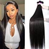 10A Straight Human Hair Bundles (26 28 30 Inch) 100% Virgin Brazilian Hair 3 Bundles Straight Weave Hair Human Bundles Unproc