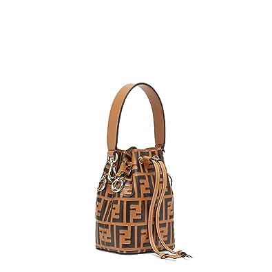 def4e7fd7f25 kimi-Fendi small Mon Tresor Leather fashion Shoulder Bag for women in new ( brown)  Handbags  Amazon.com