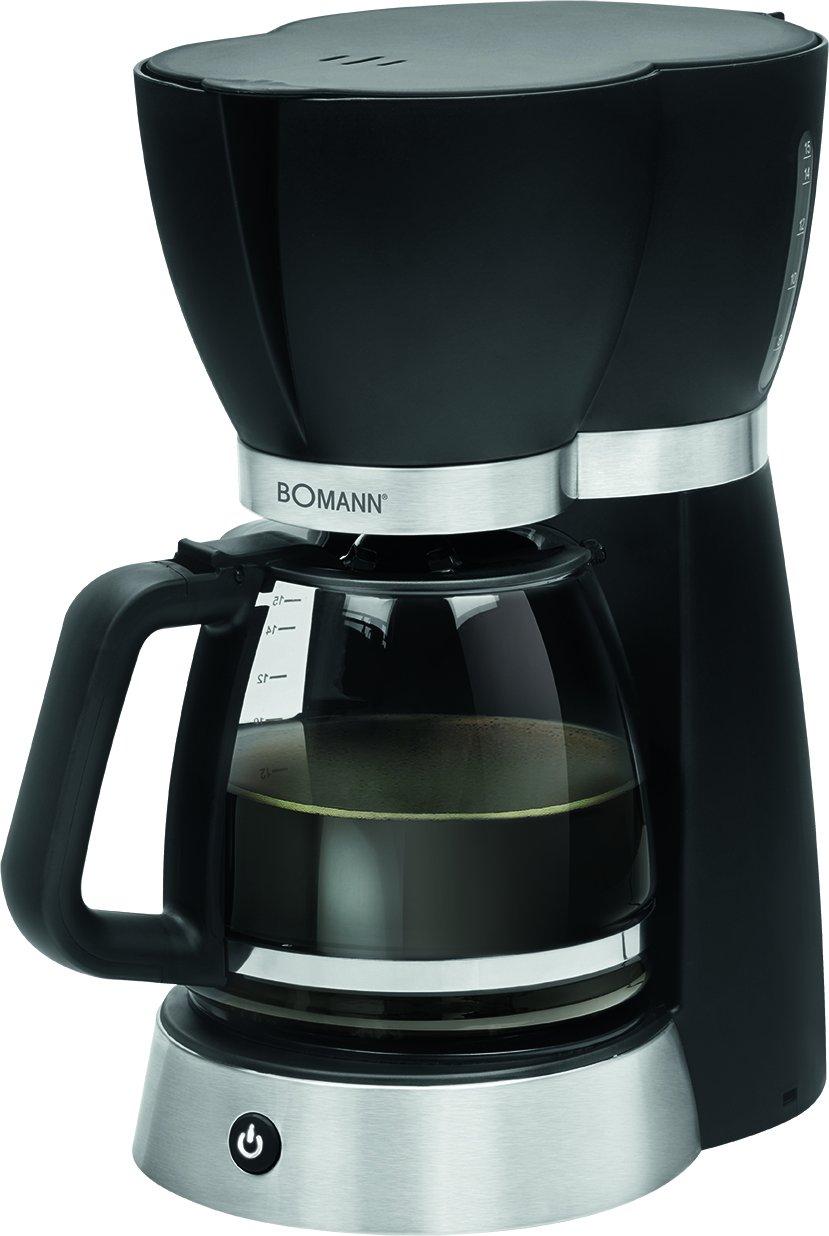 color verde Bomann KA 183 900 W 1,5 litros funci/ón de mantenedora calor m/áquina caf/é de filtro capacidad 12 a 14 tazas Cafetera el/éctrica de goteo autom/ática