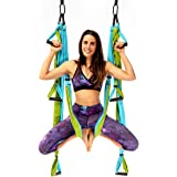 YOGABODY Yoga Trapeze Pro – Yoga Inversion Swing with Free Video Series and Pose Chart, Aqua