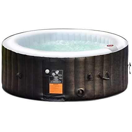 Goplus 4 6 Person Outdoor Spa Inflatable Hot Tub For Portable Jets Bubble  Massage Relaxing