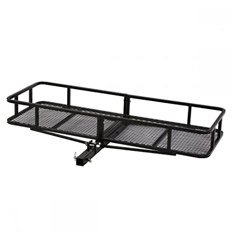 Hauler Truck or Car Hitch 2 Receiver Best Choice Products SKY1658 60 Folding Cargo Carrier Luggage Rack