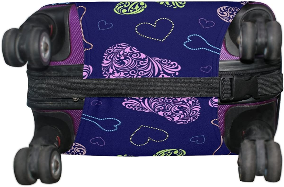 LAVOVO Cat Dog Floral Paws Footprints Luggage Cover Suitcase Protector Carry On Covers