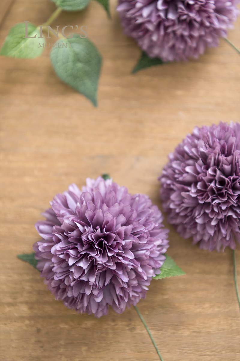 Lings-moment-Artificial-Flowers-Real-Looking-Fake-Chrysanthemum-Ball-wStem-for-DIY-Wedding-Bouquets-Centerpieces-Arrangements-Party-Baby-Shower-Home-Decorations