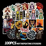 Game of Thrones Stickers [100PCS] Vinyl Decals for Laptop MacBook Water Bottle Hydro Flask MacBook iPhone iPad Phone Case Computer Car Bike Bumper Skateboard Luggage, Graffiti Sticker