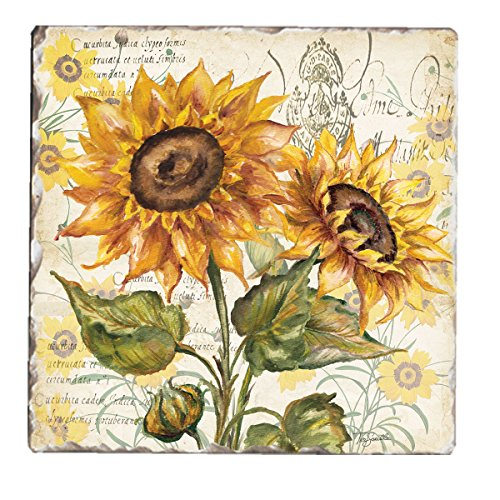Counter Tumbled Coasters Tuscan Sunflower