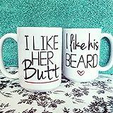 thermal chemex - I Like His Beard I Like Her Butt, Newly Wed Coffee Mug Gift, Beard Butt Cups, Wedding Gifts For Couple, Gifts For Him,Funny Coffee Mug, Valentine's Day Gifts For Her, Coffee Cups and Mugs, 11oz 15oz