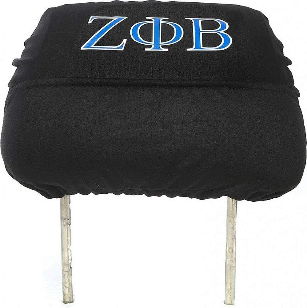Zeta Phi Beta Car Seat Headrest Cover Black