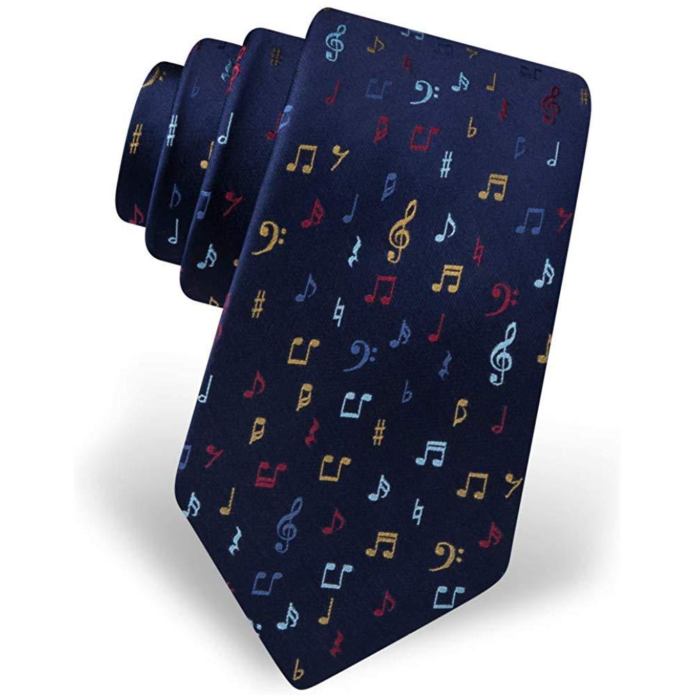 Hombres con corbata 100% seda Notas musicales Músico Corbata ...
