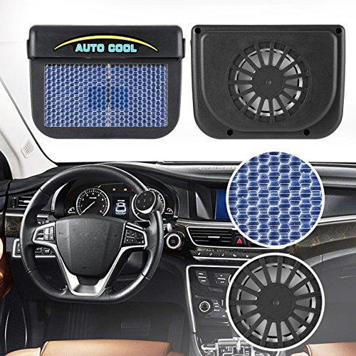 Solar Power Car Auto Air Vent Cool Fan Cooler Ventilation System Radiator Fan Exhaust Heat Fan Automobile Fan with Rubber
