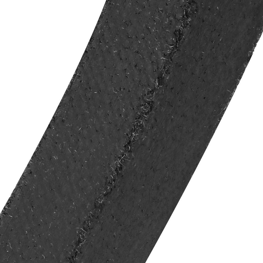 sourcing map M32 V Belt Machine Transmission Rubber,Black Replacement Drive Belt