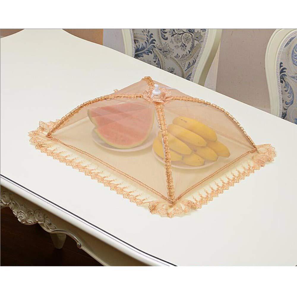 ZPSPZ cloche alimentaire tablecover m/énages couvrant tablecover pliables couverture v/ég/étale l/égumes aliments cadre /écran /étanche,d,42x42cm