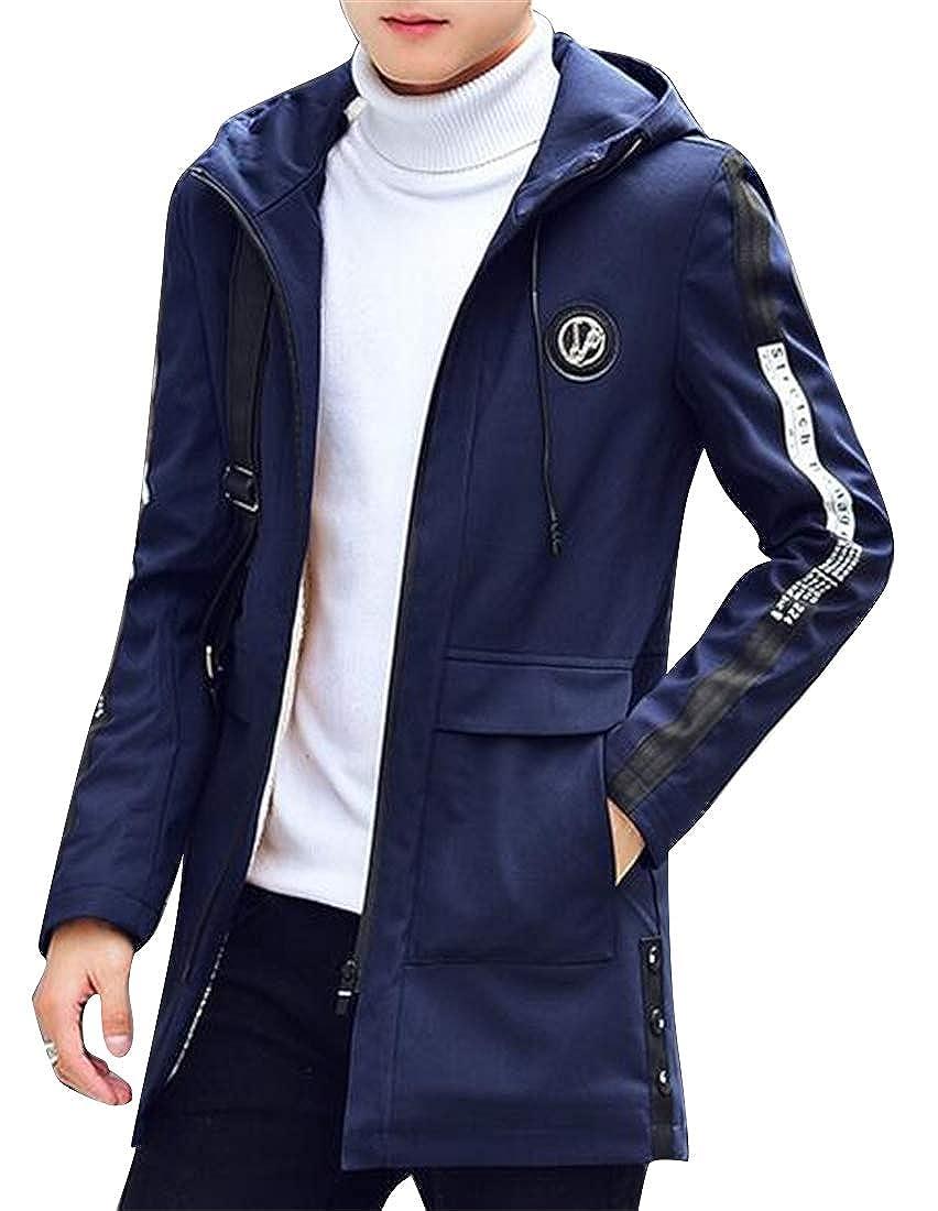 XiaoTianXinMen XTX Mens Loose Plus Size Hoodie Fleece Thermal Long Down Jacket Parka Coat Outerwear