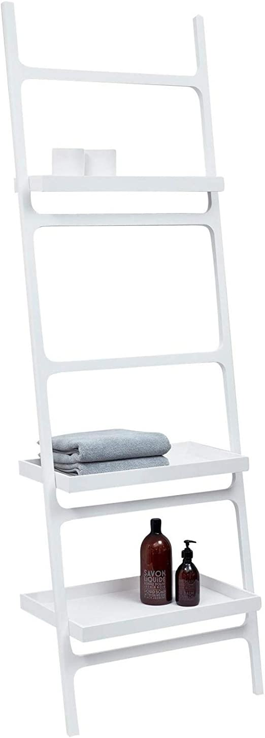 Decor Walther Stone htla Toalla Escalera, color blanco con 3 estantes wandmontiert LxBxH 60 x 36 x 180 cm: Amazon.es: Hogar