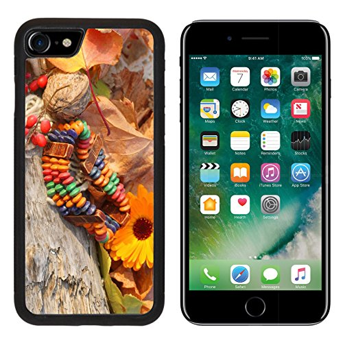 Neo Ethnic Costume (MSD Premium Apple iPhone 7 Aluminum Backplate Bumper Snap Case iPhone7 Ethnic handmade bone bracelet with calendula on autumn style background IMAGE 34434739)