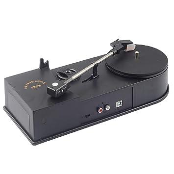 Lorenlli Genérico Mini Retro USB Tocadiscos Tocadiscos con Altavoz ...