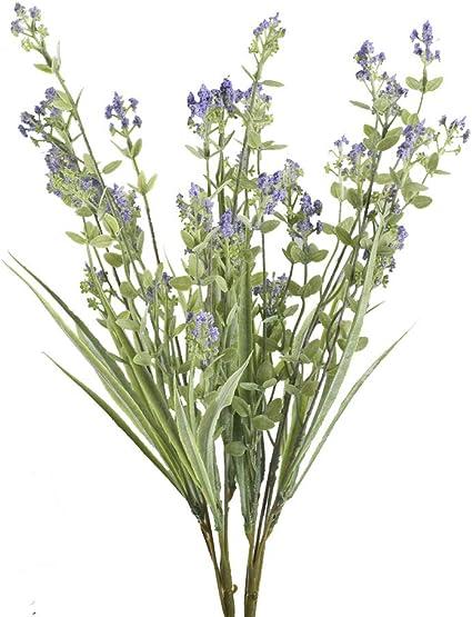 Mihounion 2 Buisson Artificiel Fleurs Lavande En Plastique Faux Arbuste Exterieur Plante Décoration à Pot Fleur Pour Balcon Jardin Chambre Plante Artificielle Violette Amazon Fr Cuisine Maison