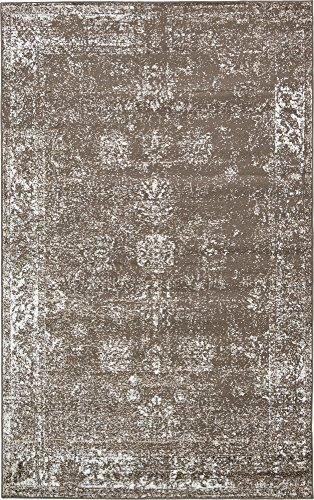 Unique Loom Sofia Collection Brown 5 x 8 Area Rug