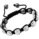 Silver Unisex Shamballa Bracelet Crystal Disco Ball Friendship Bead Crystals Beads Bracelets.