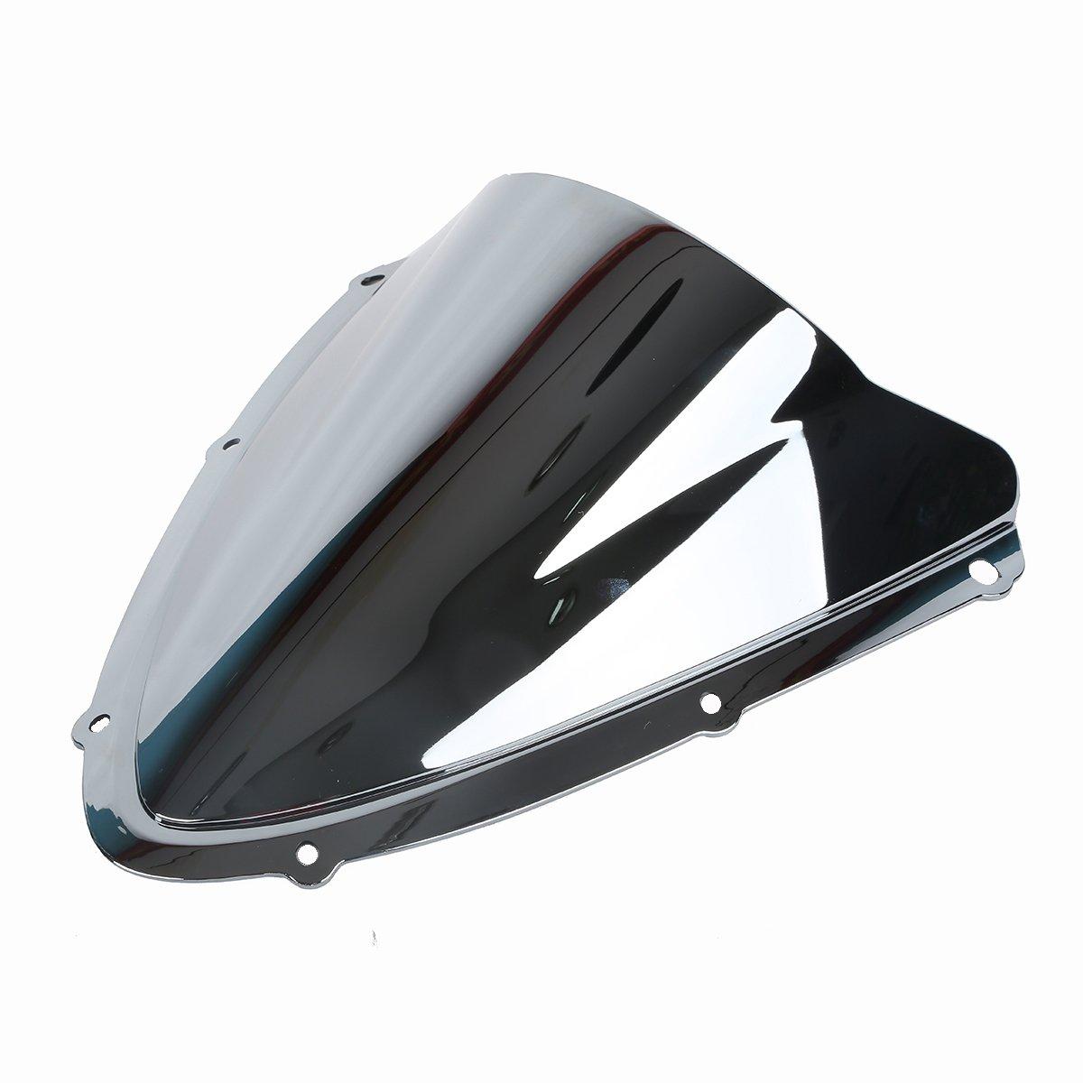 Tengchang motocicletta Doppia protezione dello schermo del parabrezza bolla parabrezza per Suzuki GSXR600 GSXR750 K8 2008 2009 2010 Nero