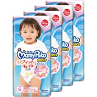 MamyPoko Air Fit Pants Girl, XL, 38 Count, (Pack of 4)