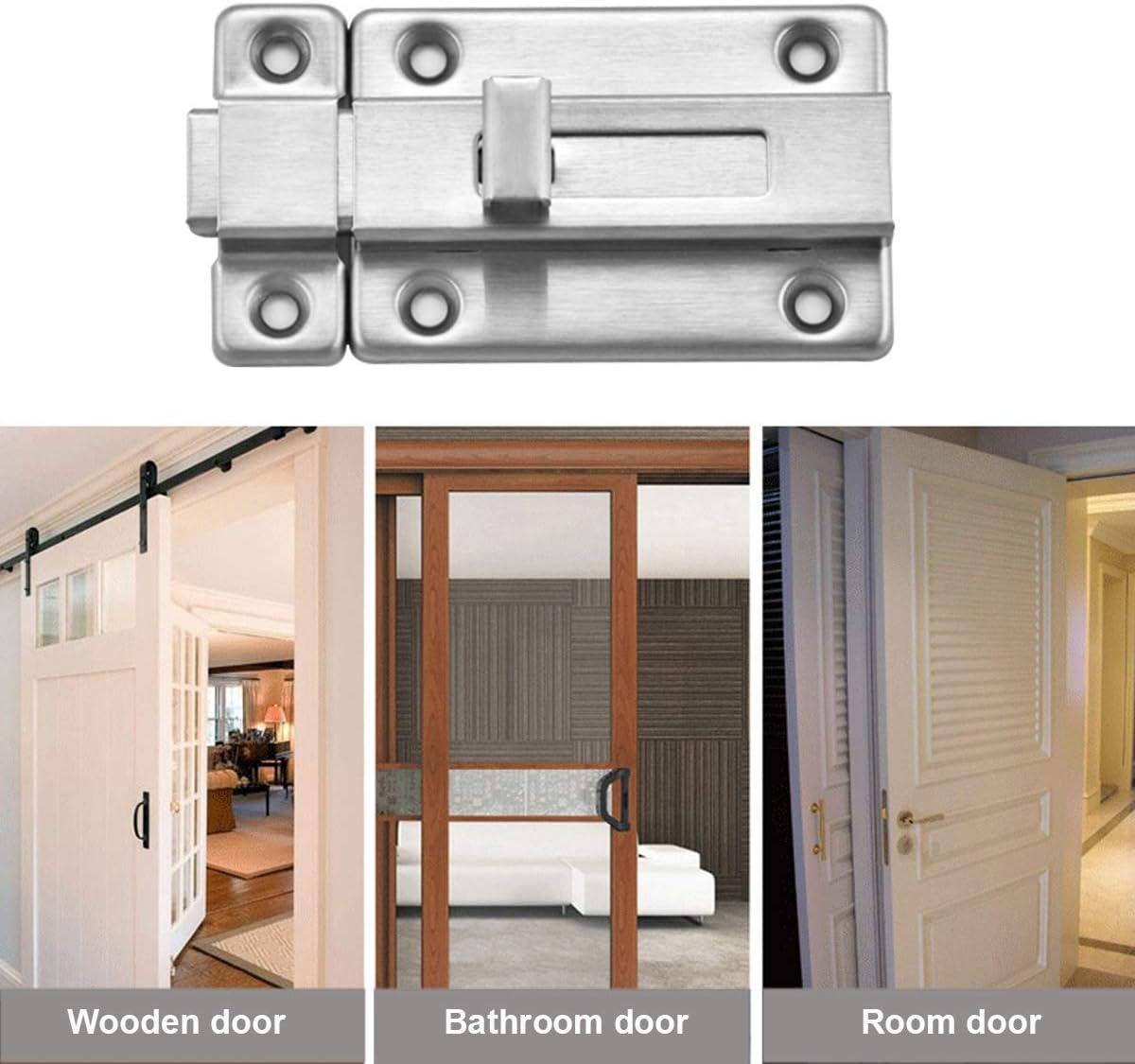 Pernos de puerta, 2 piezas de acero inoxidable cierre de puerta corredera, perno deslizante montado en la superficie para todos los tipos de puertas interiores: Amazon.es: Bricolaje y herramientas