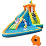 BOUNTECH Inflatable Water Slide, Bouncer Pool w/Long Slide, Climbing Wall, Including Oxford Carry Bag, Repairing Kit…