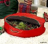 24'' Wreath Storage Case Portable Organizer Zipper Box Bin Christmas Holiday