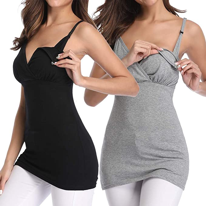 d7785be9ffd0d Nursing Tank Tops Breastfeeding Maternity Clothing Sleep Pregnancy Shirts  Cami(S)