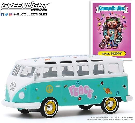 2020 Greenlight Garbage Pail Kids Hippie Skippy 1964 VW Samba Bus 54030-B