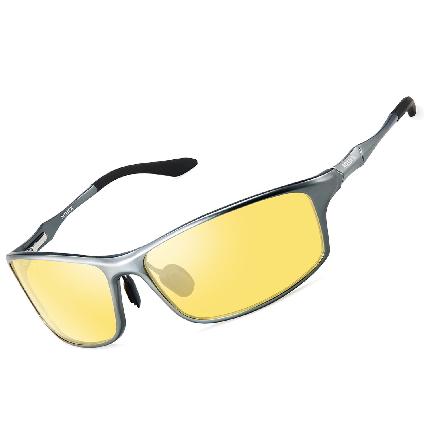 Yellow Night Glasses for Driving,2018 Upgrade Night Sight Glasses for Motorcycle Traveling Walking Racing