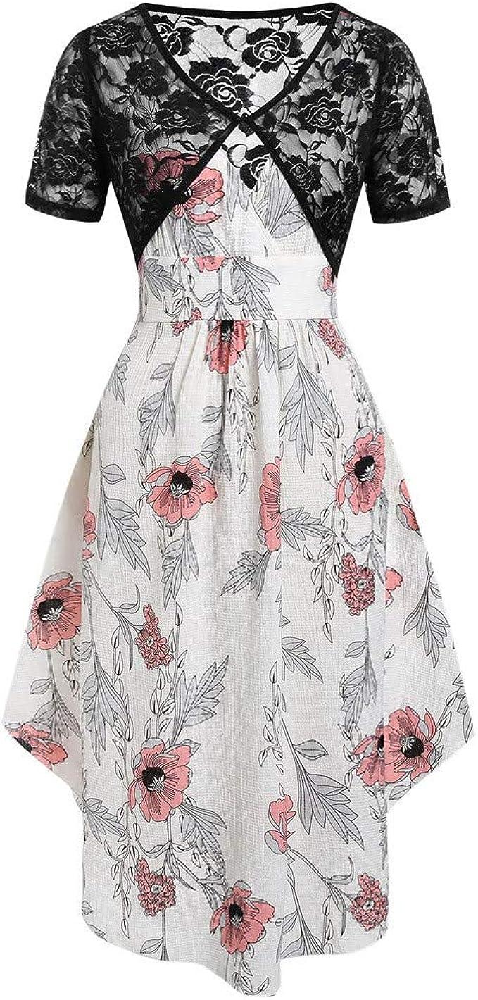 UOMOGO - Vestido de Verano para Mujer, Estilo Bohemio, Estampado ...