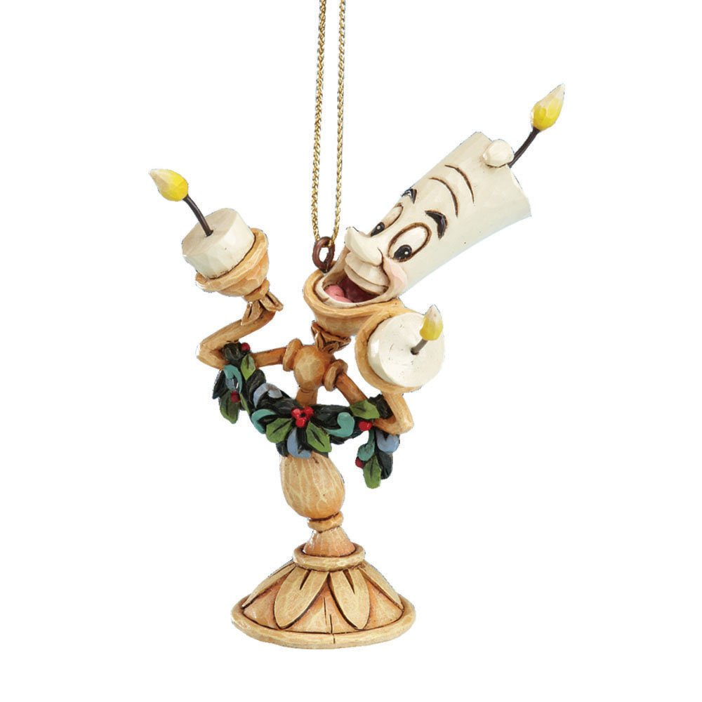 amazoncom disney traditions beauty and the beast lumiere hanging ornament home kitchen - Disney Beauty And The Beast Christmas Decorations