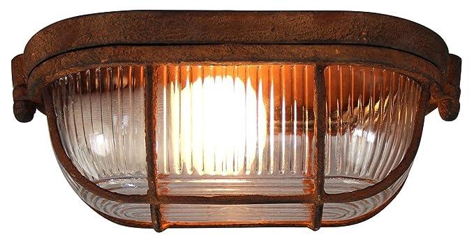 Plafoniera Da Esterno Ruggine : Brilliant bobbi plafoniera in metallo 40 w colore: ruggine