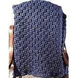 Denim Blue Handmade Crochet Lap or Throw Blanket Wheel Chair Accessories