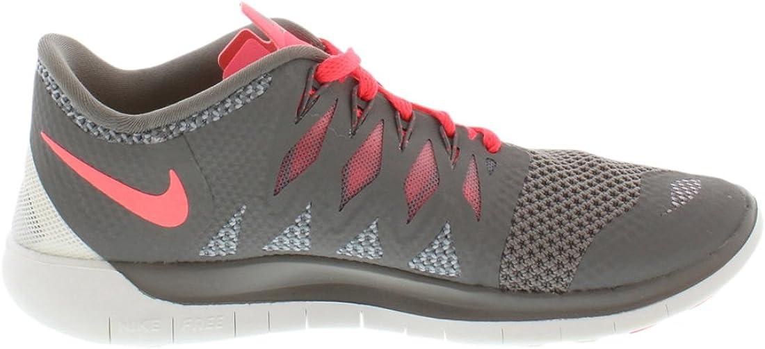 Nike Free 5.0, Chaussures de Running Femme Light Ash Wolf Grey Summit White Hyper Punch