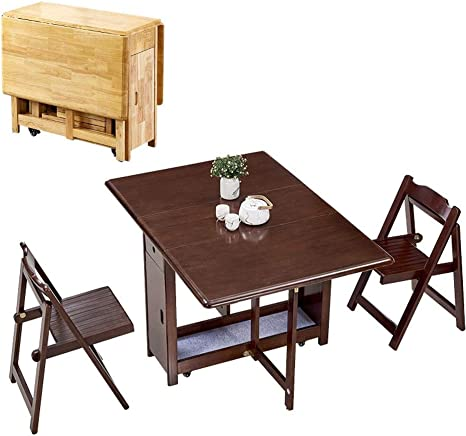 Asdfghjkl 1 3m Dining Table 2 Chairs Set Folding Drop Leaf Butterfly Solid Wooden Kitchen Furniture Natural Pine Color Walnut Amazon Ca Home Kitchen
