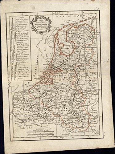 Holland Netherlands Les Pays Bas 1810 Lattre Delamarche cartouche scarce old (Delamarche Map)