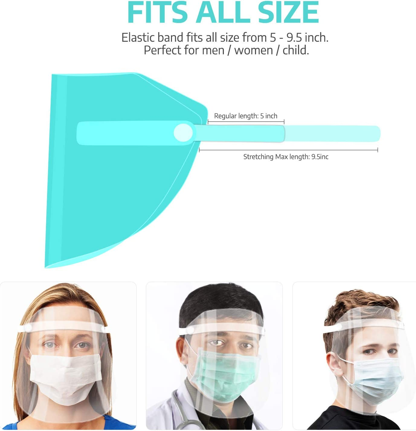 Free Amazon Promo Code 2020 for 10Pcs Value Pack Safety Face Shields