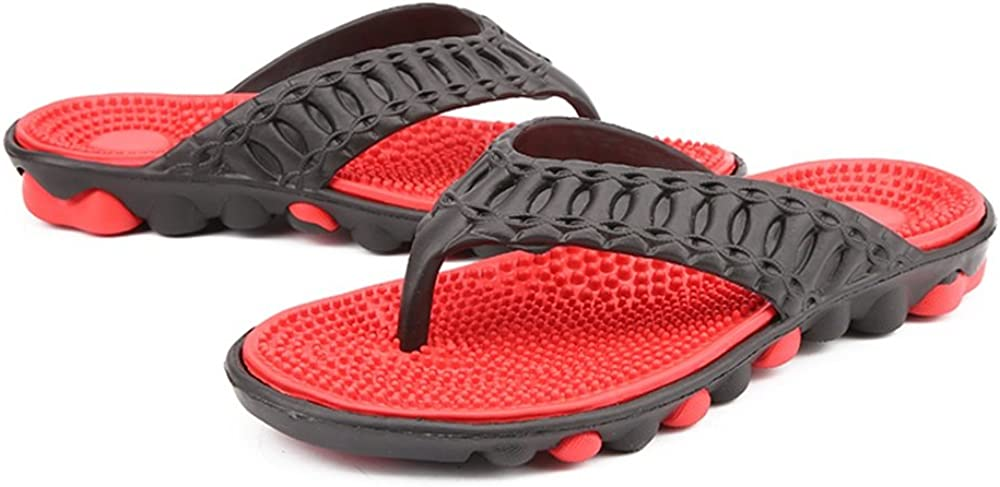 Menshoes Mens Flip-Flops for A Casual for Massage Anti Skid Outdoor Or Home Bathroom Bathing Beach Sandals Comfortable